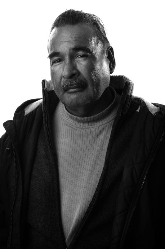 Felix Solorio, Denver Rescue Mission portrait series 11/25/09.  Photo by Matt McClain