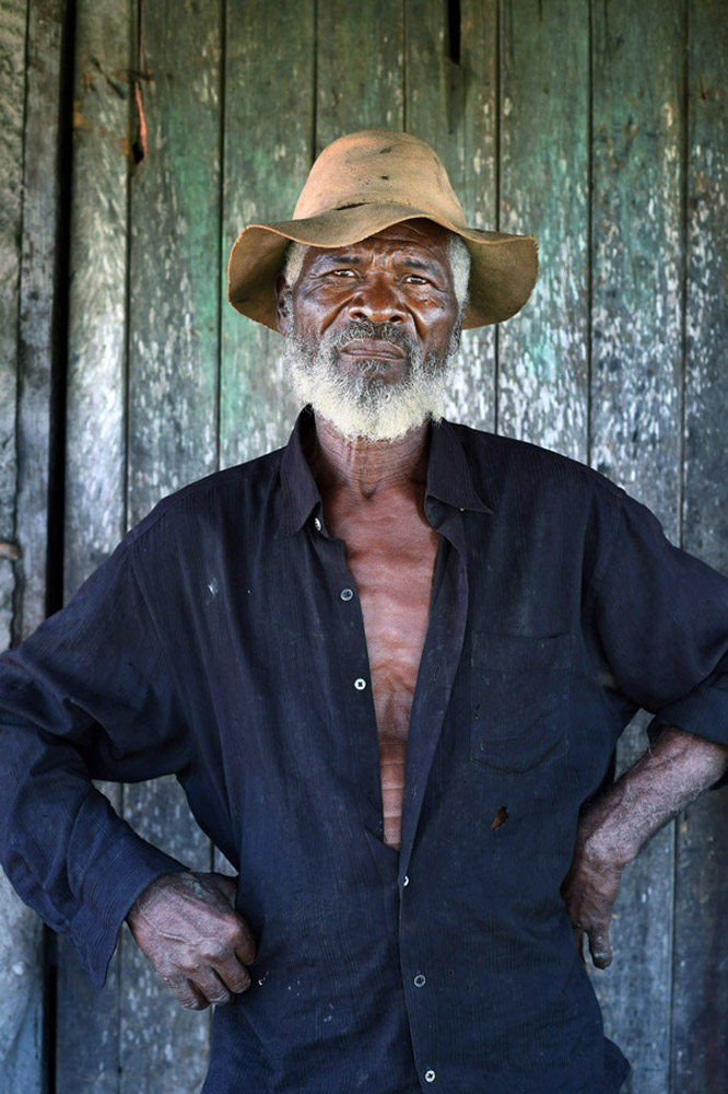 Lourinaldo Alves Rodrigues, 68, poses for a portrait in Serrote do Gado Bravo de Sao Bento do Una on Saturday March 19, 2016 in Pernambuco state, Brazil. The community was founded by former slaves. Lourinaldo lost his brother to complications from Chikungunya virus which is carried by the Aedes aegypti mosquito. The mosquito always carries the Zika virus. (Photo by Matt McClain/ The Washington Post)