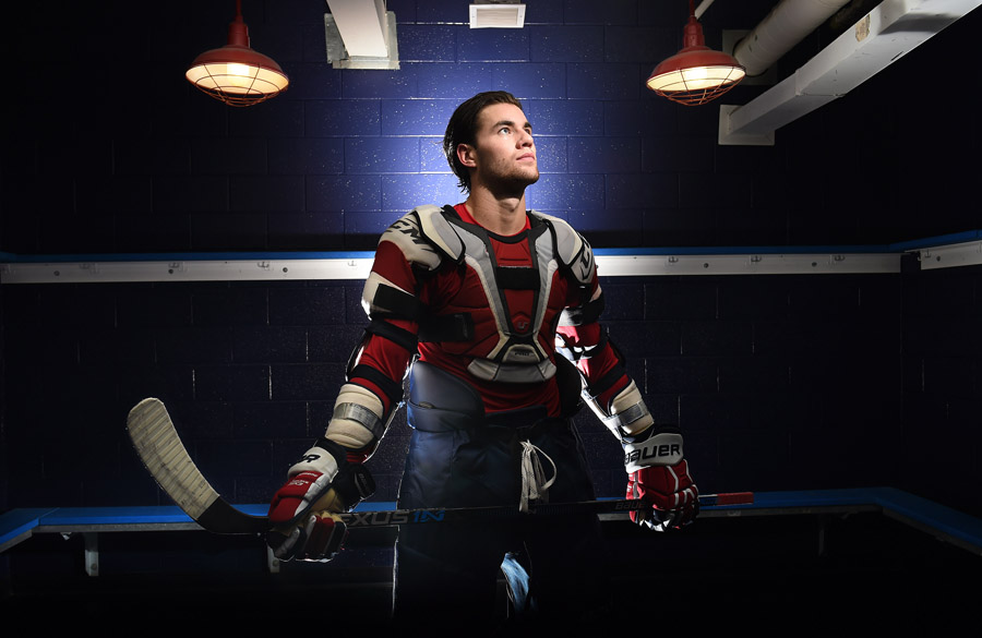 Tom Wilson of the Washington Capitals poses for a portrait at Kettler Capitals Iceplex on Tuesday September 29, 2015 in Arlington, VA. (Photo by Matt McClain/The Washington Post)