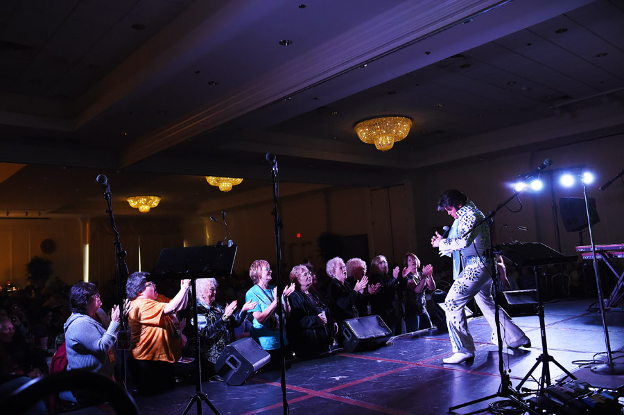 David King, 42, of Greencastle, PA performs at the Ocean City Elvis Festival which took place at the Clarion Resort Fontainebleau Hotel on Saturday October 24, 2015 in Ocean City, MD. (Photo by Matt McClain/ The Washington Post)