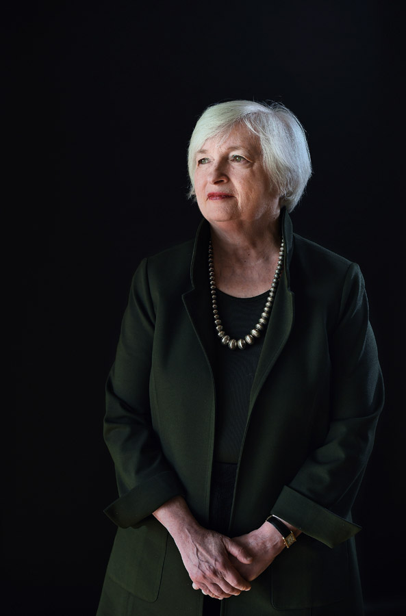 Chair of the Federal Reserve, Janet Yellen poses for a portrait on Tuesday November 17, 2015 in Washington, DC. (Photo by Matt McClain/ The Washington Post)