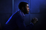 Chadwick Boseman poses for a portrait at the Ritz-Carlton Georgetown, Washington, DC on Monday March 18, 2013 in Washington, DC.  Boseman portrays Jackie Robinson in the movie, {quote}42{quote}.  (Photo by Matt McClain/The Washington Post)
