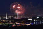 Fourth of July fireworks over Washington, DC are seen from the roof of Waterview Condominium on Friday July 04, 2014 in the Rosslyn area of Arlington, VA.  (Photo by Matt McClain/ The Washington Post)