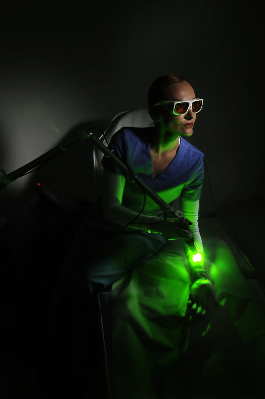 Marina McDowell, 26, laser specialist poses for a portrait at Zapatat on Wednesday September 26, 2012 in Arlington, VA.  (Photo by Matt McClain for The Washington Post)