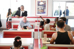 Presidential candidate, Bernie Sanders stops to eat at an In-N-Out Burger following a rally on Friday June 03, 2016 in Pinole, CA. The primary in California is June 7th. (Photo by Matt McClain/ The Washington Post)
