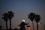 Presidential candidate, Bernie Sanders speaks at a rally at Santa Monica High School on Monday May 23, 2016 in Santa Monica, CA. The primary in California is June 7th. (Photo by Matt McClain/ The Washington Post)