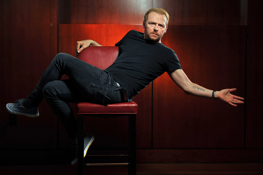 Simon Pegg poses for a portrait at the Ritz-Carlton Georgetown on Tuesday July 30, 2013 in Washington, DC.  Pegg stars in the movie, {quote}The World's End{quote}.  (Photo by Matt McClain/ The Washington Post)