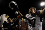 Pine Creek's Sam Norton celebrates his team's 13-3 victory against Fountain-Fort Carson at Fountain, Colo. on Friday 09/24/10.  Photo by Matt McClain