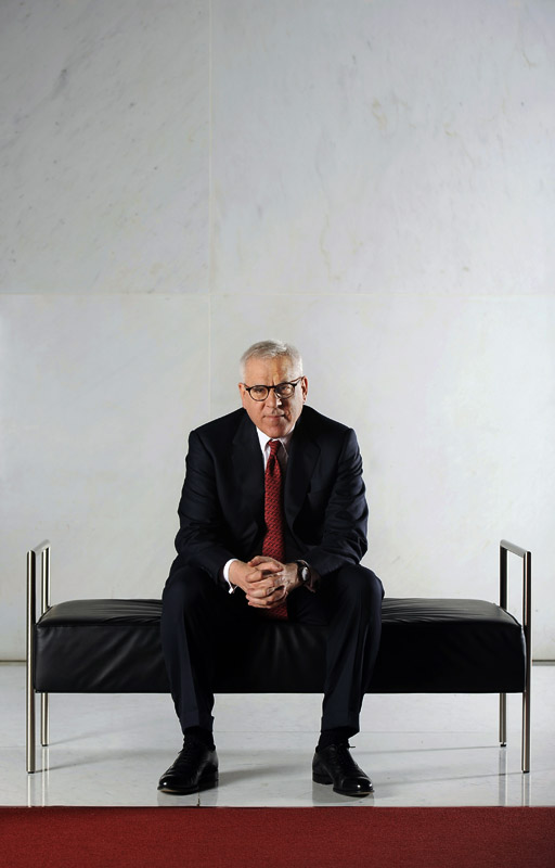 David M. Rubenstein, who is Co-CEO of The Carlyle Group and Chairman of the Kennedy Center poses for a portrait at the John F. Kennedy Center for the Performing Arts on Monday May 07, 2012 in Washington, DC.  (Photo by Matt McClain for The Washington Post)