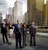 PLEADING GUILTY: McCormack \{quote}Mack\{quote} Malloy (Jason Isaacs, C), a partner at a prestigious Chicago law firm has spent the last decade navigating the corporate legal world and is now about to embark on a new way of finding justice for his clients in the new one-hour drama PLEADING GUILTY airing this fall on FOX.  Also pictured L-R:  John Larroquette, Mädchen Amick, Isabelle Fuhrman and Omid Abtahi.  ©2010 Fox Broadcasting Co.  Cr:  Jeffery Garland/FOX