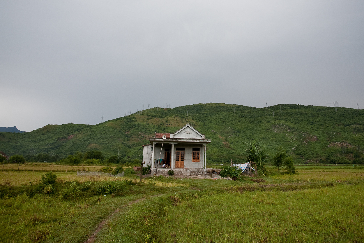 The house of Nguyen Pham, 11, an Agent Orange victim, in the district of Chi Linh, Vietnam.