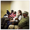 Veterans wait at the Dorn VA Medical Center in Columbia, South Carolina. Nov. 2014