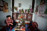 A mother of an Agent Orange victim at home in Kim Dong district of Nhat Tan, Vietnam.