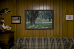 A painting of Mr. Frampton's childhood home that was buit in the 1800's, hangs on wall of his brothers house about 50 yards away from the orginal barn house in Varnville, SC. Nov. 2014