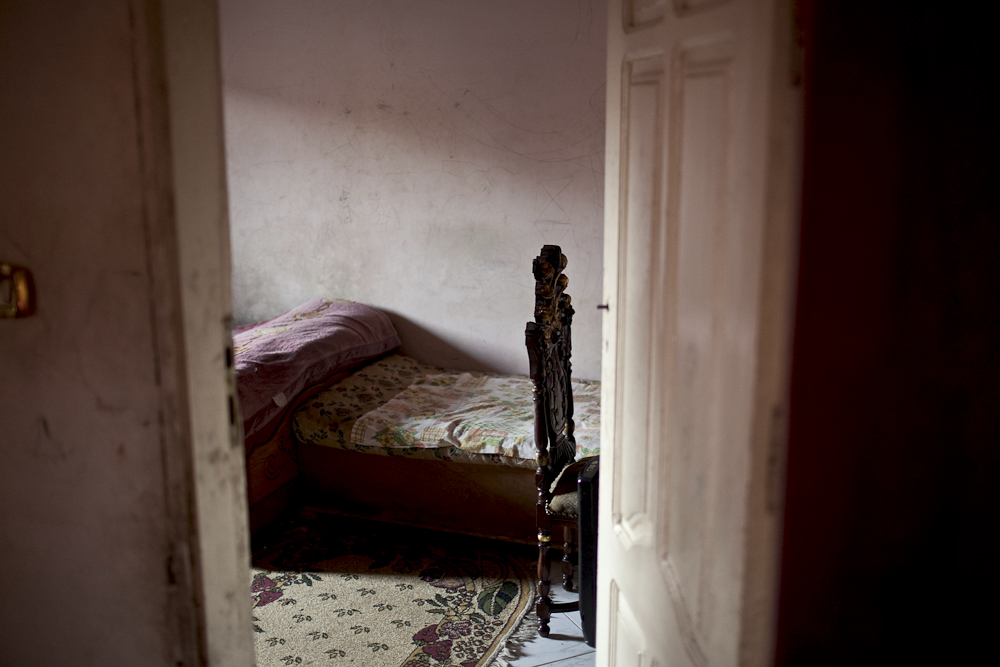 The bedroom of 21 year old Moneer, a protester who was abducted in Nasr City, Apr. 9, 2011, accused of criticizing the government. He is detained inside a military prison. Moneer has endured many acts of torture, while living in an inhumane environment. Mar. 27, 2012