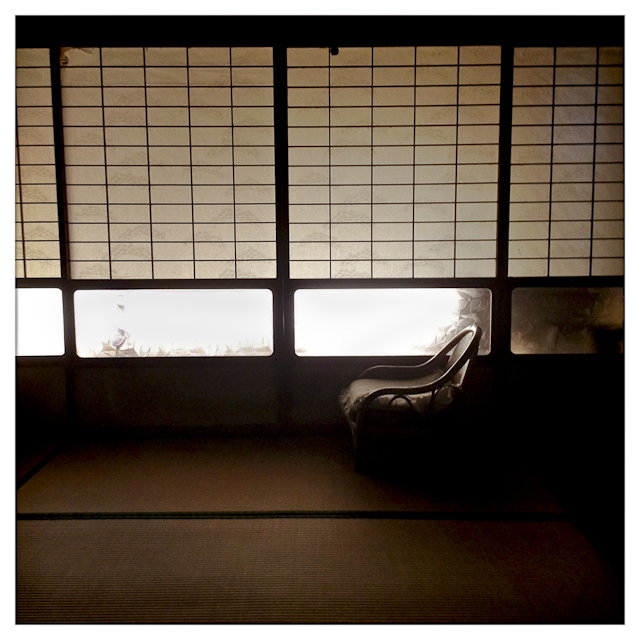 The guest room of an abandoned house owned by Eiko Nakano, 86, located in the mountains of Oda. Eiko has been living in a nearby group home called Kouyou-no-Sato, which means fall foliage.