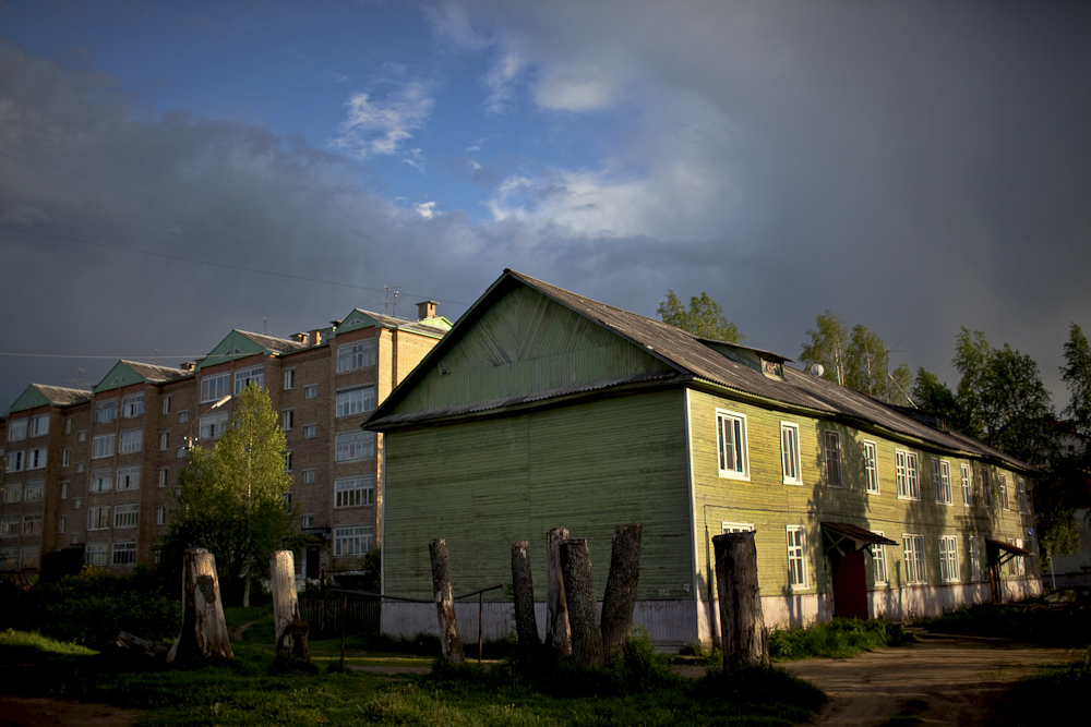 Komi villages, mostly consisting of wooden houses shown here, connect the stories of two nations, Russian and the Komi.