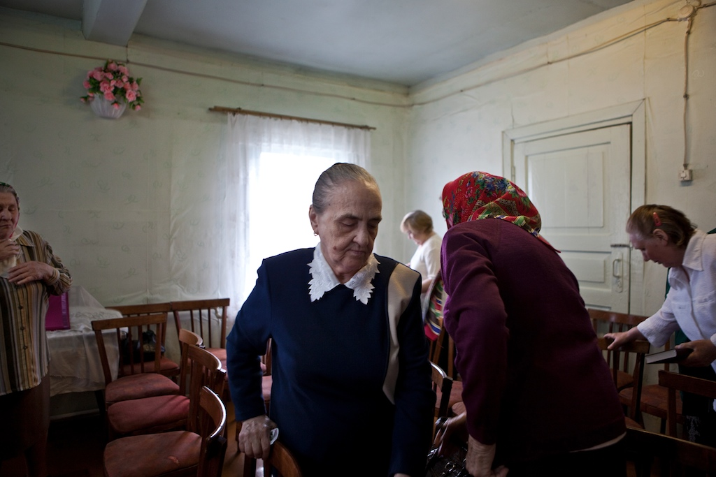 Russian German ladies spend most of their days at the Lutheran church in the city of Syktyvkar, Russia.