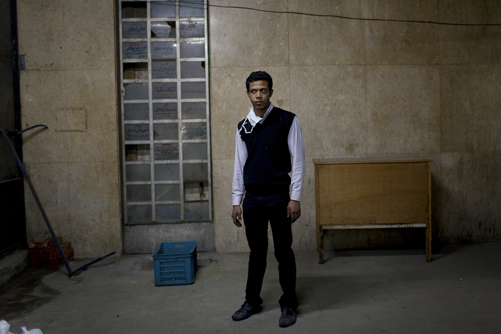 Issa, 23, arrested in downtown Cairo, early Dec. 2011, accused of criticizing the government. He was blindfolded and taken to Tora prison in Maadi, Cairo for 28 days. Issa encountered a series of beating by the National Security and was forced to live in an overcrowded jail cell. Feb. 5, 2012