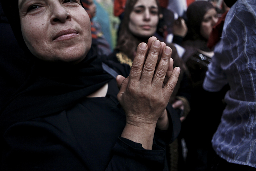 Egyptians celebrate a 'day of victory' at Tahrir Square. Egypt  Cairo, Friday, February 18, 2011