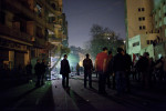 Anti-government protesters stand guard on Mohamed Mahmoud street near Tahrir Square, Cairo, Feb. 10, 2011