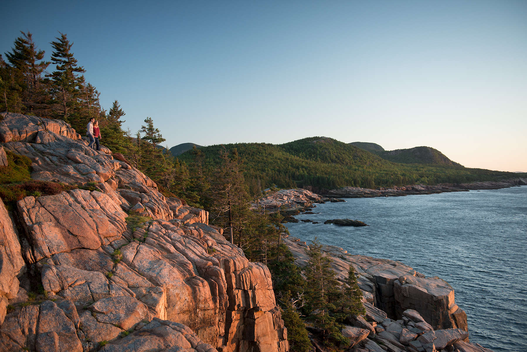 Otter Cliff, Acadia National Park, Bar Harbor, Maine, Downeast, Down East, Hancock County, Park Loop Road, Sunrise, Mount Desert Island