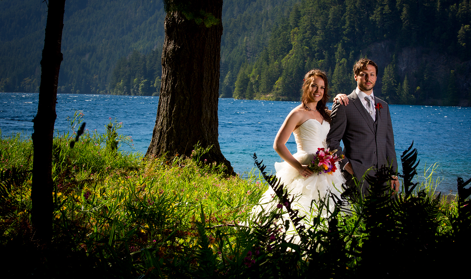 The wedding of Genevieve & Andrew at Lake Crescent Lodge on Wednesday July 17, 2013. (Photo by Scott Eklund /Red Box Pictures)