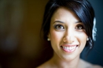 A portrait of the bride at her Cedarbrook Lodge wedding in Seattle, Washington. (Wedding Photography by Scott Eklund - Red Box Pictures)