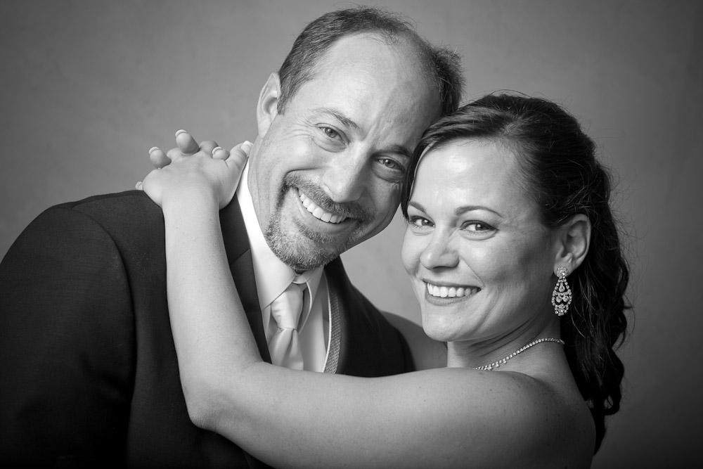 Michelle & Matt have their portrait taken near their wedding venue at The Attic in Sumner, WA. (Photography by Scott Eklund/Red Box Pictures)