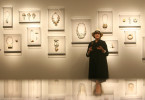Helen Williams Drutt, the owner of an avant-garde jewelry collection on display at the Museum of Fine Arts, Houston called Ornament as Art, talks about her pieces at the museum on Thursday, Sept. 27, 2007 in Houston.