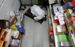 Clerk Ali Khan, a devout Muslim, takes a break to pray in his Valero gas station store in Houston, Texas.