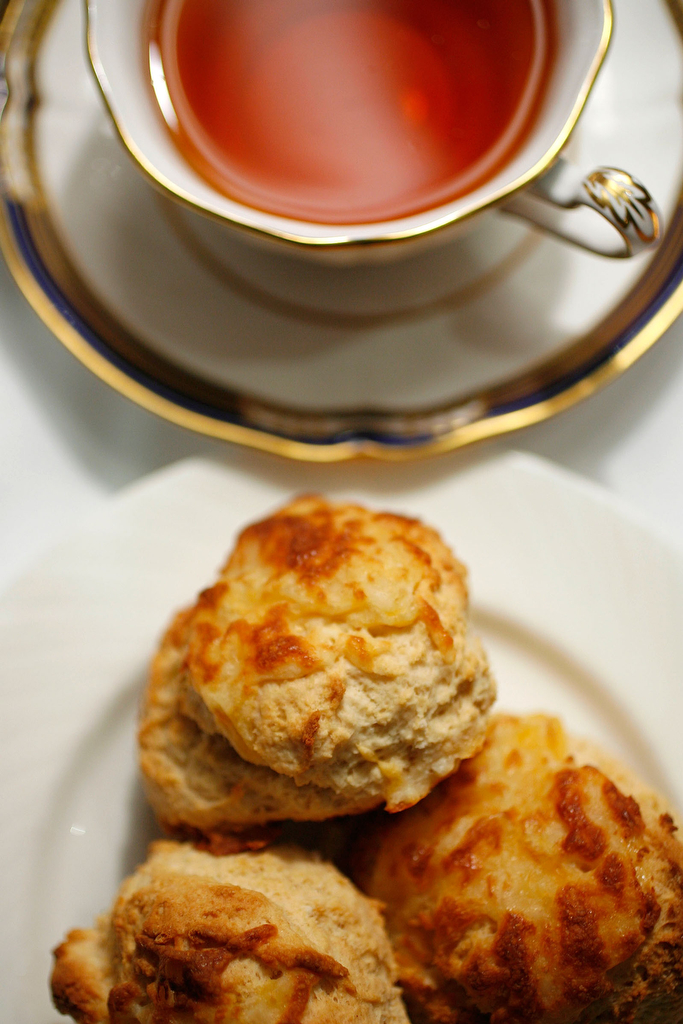 Scones in a high tea setting at Kiran's restaurant in Houston, TX.  ( Sharon Steinmann / Chronicle )