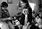 Maria attends her baby shower at her aunt's house in East Dallas.