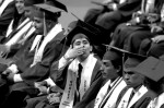 Rocky blows Maria a kiss during his high school graduation.