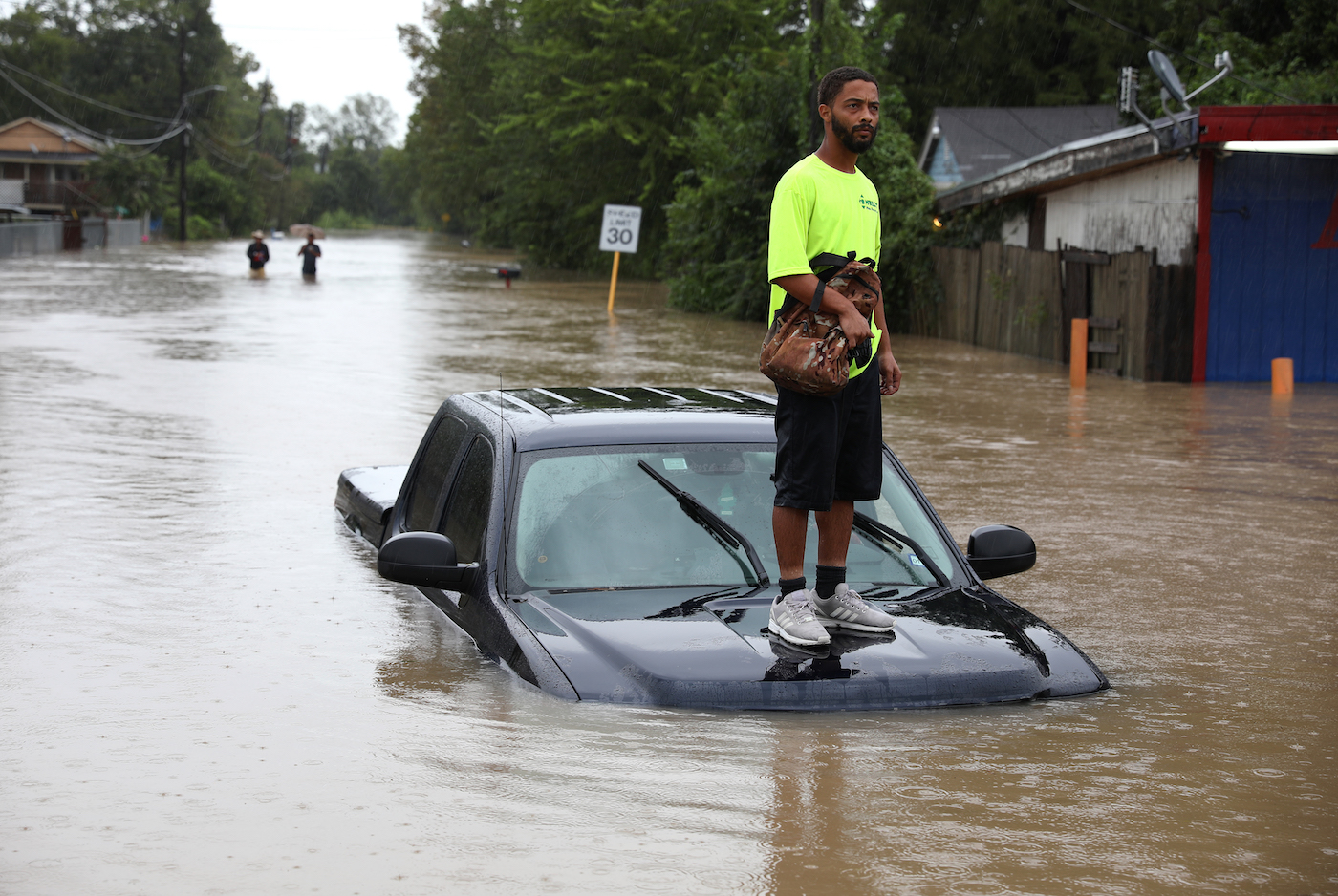 The Harris County Sheriff's Office rescue people from floodwaters in Aldine, TX during Tropical Storm Imelda on September 19, 2019. Aldine experienced 12.53 inches of rain during the storm. Photo by Sharon Steinmann/Harris County Sheriff's Office