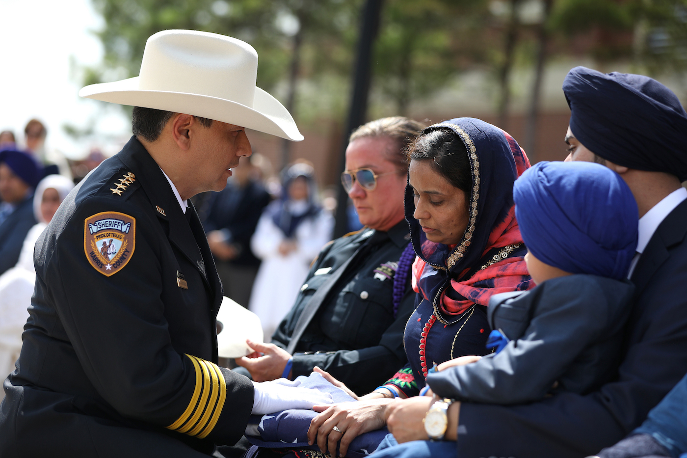 Thousands gathered for services for Deputy Sandeep Dhaliwal at the The Berry Center of Northwest Houston on October 2, 2019. Deputy Dhaliwal was fatally shot while conducting a traffic stop on Friday afternoon.  Photo by Sharon Steinmann/Harris County Sheriff's Office