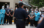 A procession was conducted on Friday May 8, 2020 for Harris County Sheriff's Office Sgt. Raymond Scholwinski, who died after battling COVID-19.