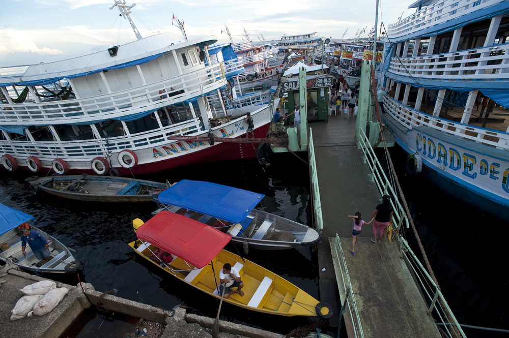 The bustling port on the Rio Negro in Manaus, Brazil, a city in Northern Brazil that is expanding into its surrounding rain forest on Saturday, March 10, 2012.