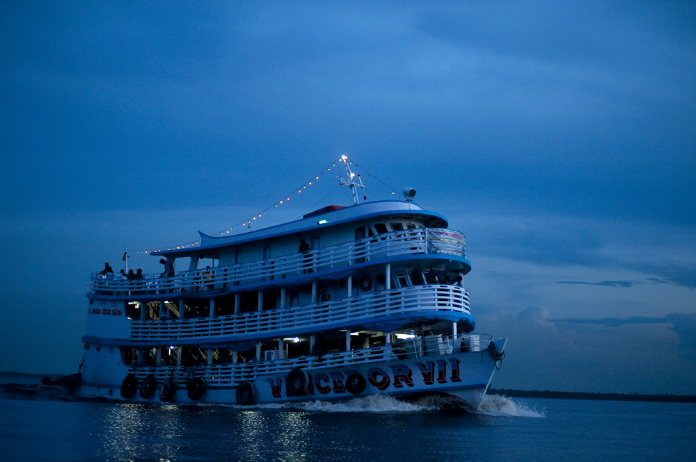 Large vessels can travel from the sea on the Amazon, the world's greatest river system, to Manaus, Brazil which is 900 miles inland from the Atlantic Ocean. Ship and air travel are the primary forms of transportation in and out of Manaus. Photographed on Saturday, March 10, 2012.