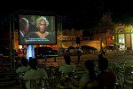 The film {quote}Gentlemen Prefer Blondes{quote} is screened in St. Sebastian Square near the Teatro Amazonas opera house in Manaus which was built in the 1890s during the city's rubber boom. Manaus, Brazil, is a city in Northern Brazil that is booming and expanding into its surrounding rain forest.Photographed on Saturday, March 10, 2012.