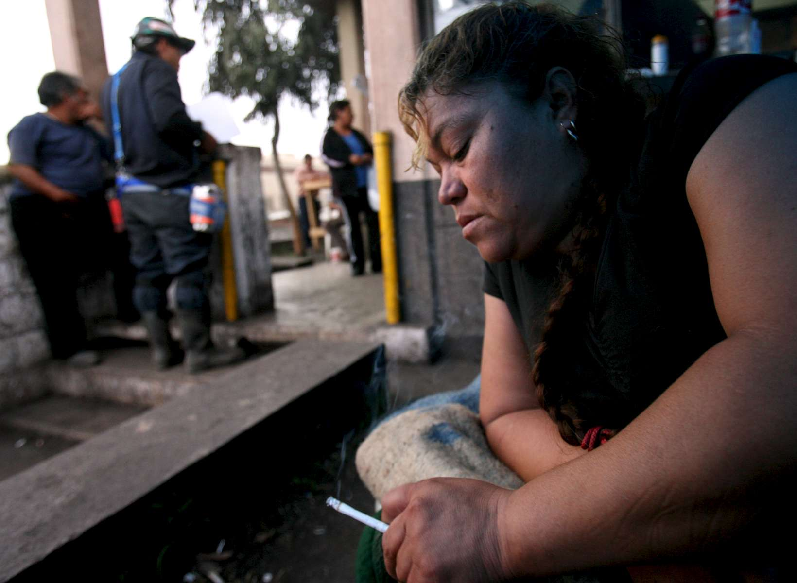 Maria Hernandez rests on her cot at the entrance to the Pasta de Conchos coal mine in San Juan de Sabinas, Mexico Saturday March 18, 2006 where her husband has been trapped since February 19. {quote} He's going to come out that gate and I'm going to be here awaiting him,{quote} said Hernandez. In the Early morning on Sunday February 19, 2006, sixty-five miners were trapped as much as 2000 feet below ground after an explosion.Sharon Steinmann / Houston Chronicle
