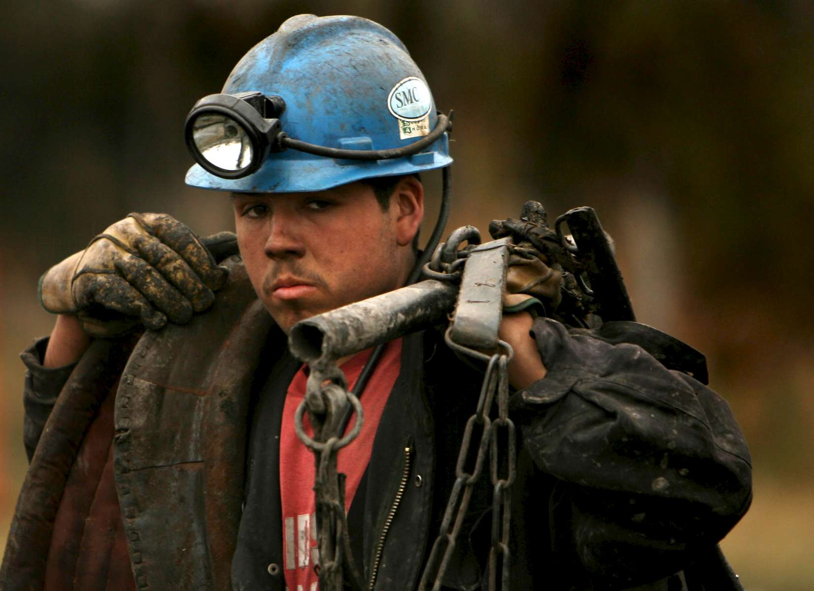 Luis Enrique Beltrán, 18, ( accent on {quote}a{quote})  leaves his shift in rescue efforts Friday at the Pasta de Conchos coal mine in San Juan de Sabinas in the Mexican state of Coahuila. Beltran has only been working at the mine for 8 months and is not sure he will return after rescue efforts are over. Family members continued to wait outside the Pasta de Conchos coal mine as well. In the Early morning on Sunday 65 miners were trapped as much as 2000 feet below ground after an explosion.Sharón Steinmann / Houston Chronicle