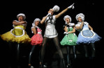 Gwen Stefani performs at the Cynthia Woods Mitchell Pavilion in The Woodlands, TX on May 6, 2007.