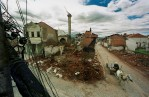 The old town of Djokovica was destroyed by Serbian paramilitary units.