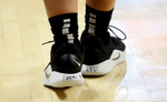 Oregon's Sabrina Ionescu paid her respects to Kobe Bryant on her shoes. Ionescu did not come out until 15 minutes before the game started at Gill Coliseum. [Andy Nelson/The Register-Guard] - registerguard.com