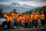 The Road Hogs are a group of olders volunteers who work on the byways of Rocky Mountain National Park. Many are residents of Estes Park.