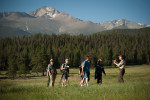 Rocky Mountain National Park volunteers conduct many outdoor education experiences for visitors including a bird watching tour led by Ronald Harden.