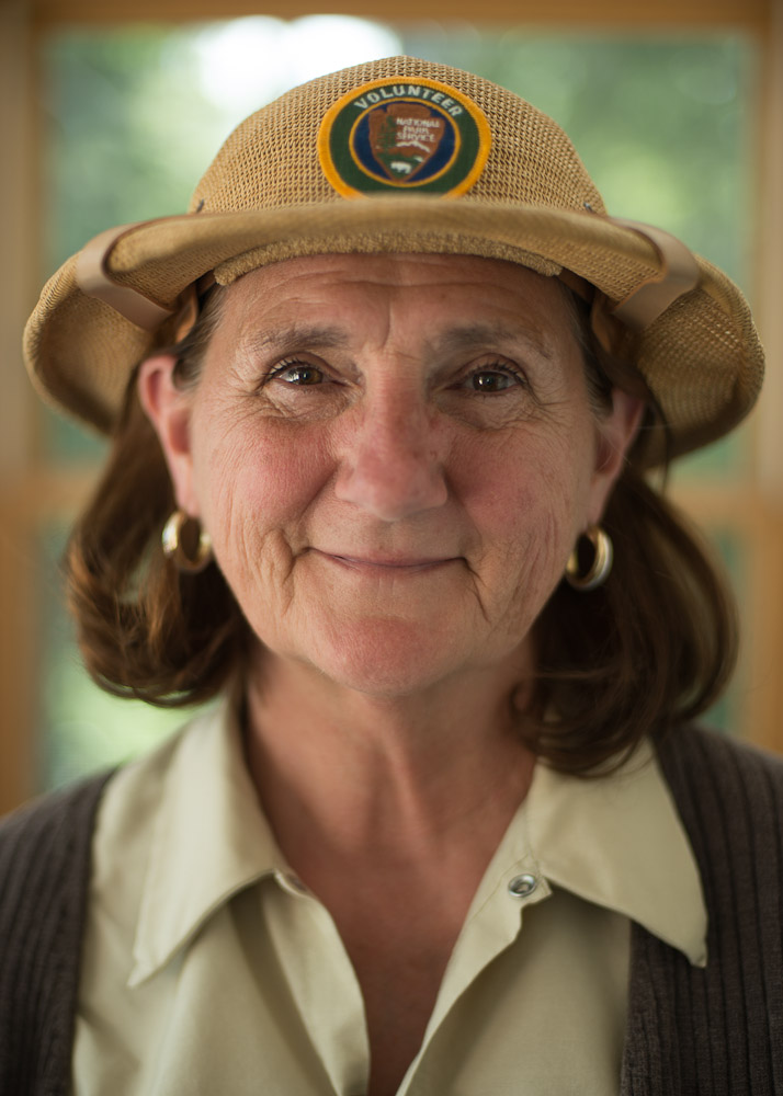 Judy Doty, a seasonal volunteer at Rocky Mountain National Park, is a welcoming presence at Bear Lake, one of the most-visited places in the park.