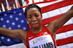 USA's Kendell Williams sheds a tear of joy after winning the women's 100 meter hurdles with a time of 12.89 at the IAAF World Junior Championships at Hayward Field in Eugene on Sunday, July 27, 2014. (Andy Nelson/The Register-Guard)