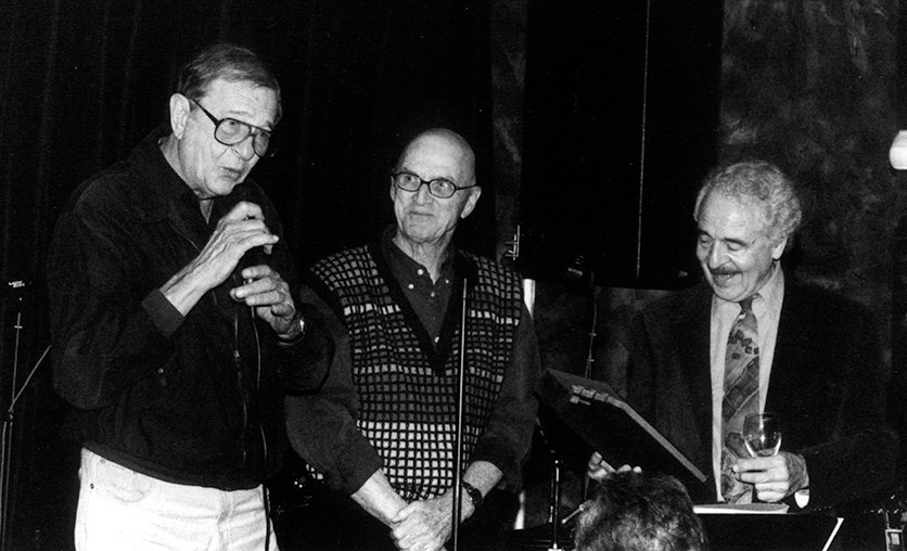 Chuck Niles, Jack Tracy & John at the 5th Ann.